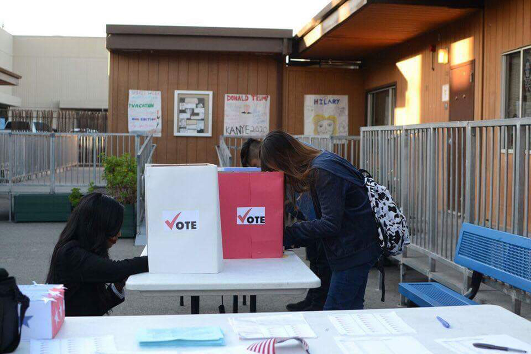 Terry Chau  ASTI students participated in a mock election recently to familiarize themselves with the voting process.