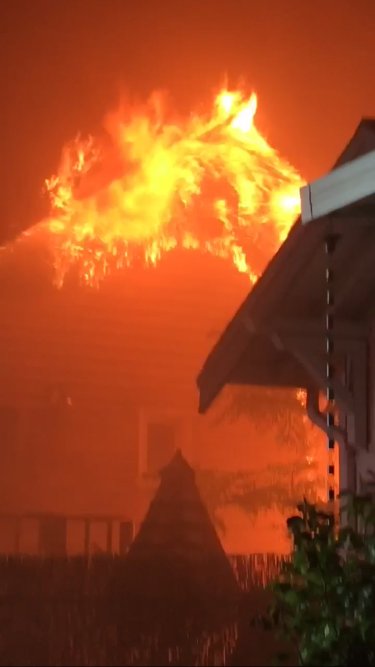 Isaiah Rojas  Flames could be seen leaping from the Lincoln Avenue home prior to fire crews' arrival
