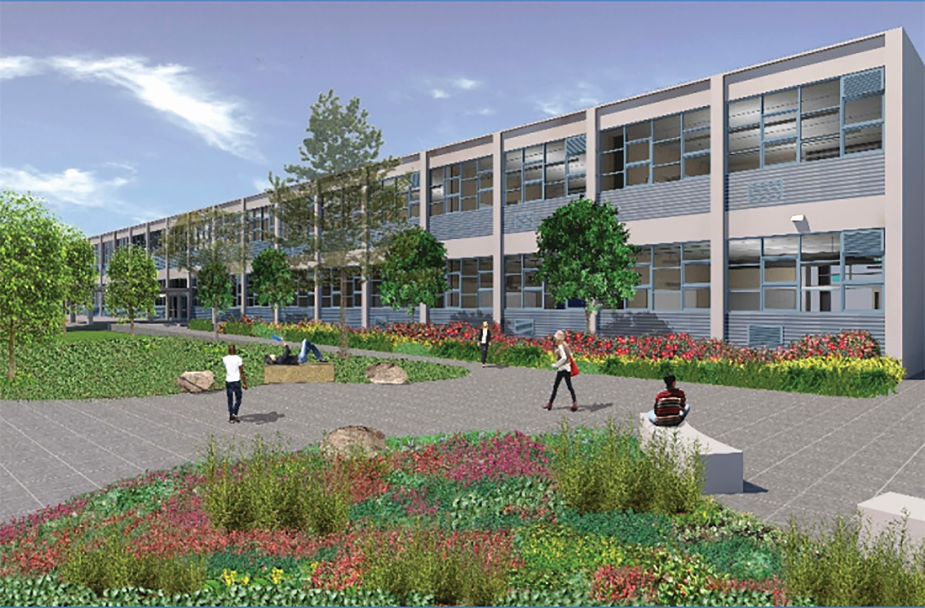 Alameda Unified School District &nbsp&nbsp The school district plans a major renovation of the Encinal Junior & Senior High School campus on Central Avenue. The project will get underway with a groundbreaking tomorrow at 3:15 p.m.