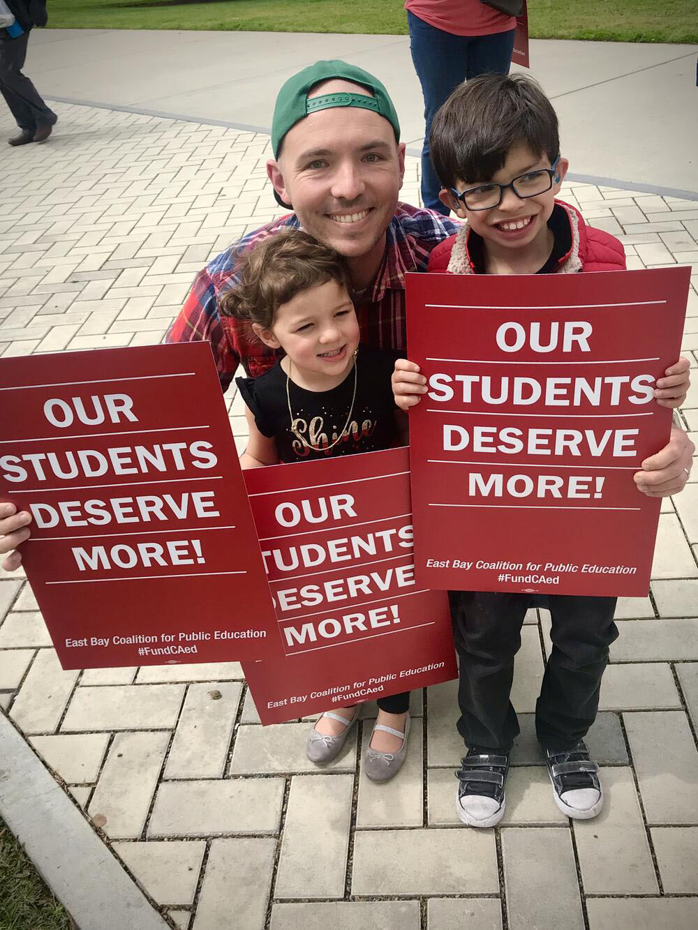 Alameda Unified School District &nbsp&nbsp Maya Lin School teacher Brian Dodson advocates for student rights at an education rally. The school district named him the 2020 AUSD Teacher of the Year on June 16. He has taught for AUSD for eight years.