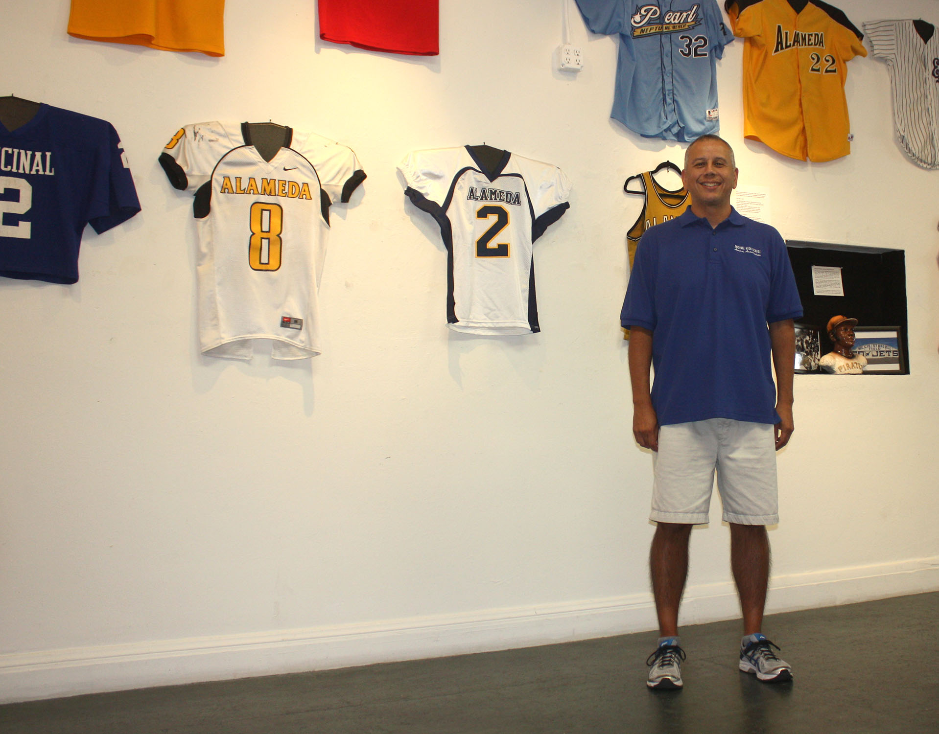 Dennis Evanosky  Dewey St. Germaine has helped create a comprehensive collection of Alameda sports history memorabilia. See the exhibit on display now at Alameda Museum.