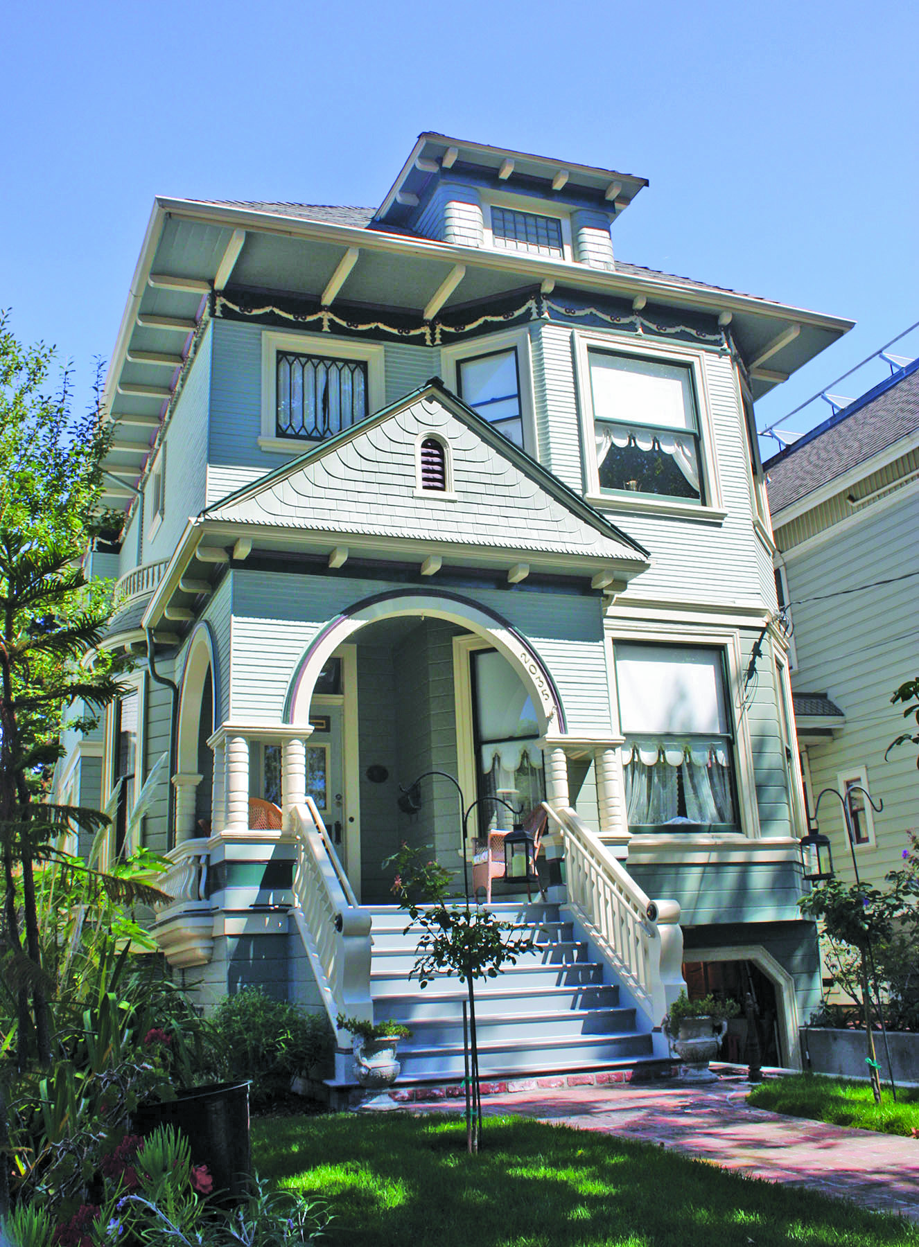 Dennis Evanosky &nbsp&nbsp one of three homes Edwin's widow Julia, had built on Alameda Avenue, stands three doors down from the Meyer's House and Gardens.