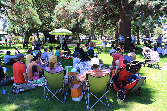 Courtesy photo - Last year, Alameda String Academy's concerts in Franklin Park were well attended.