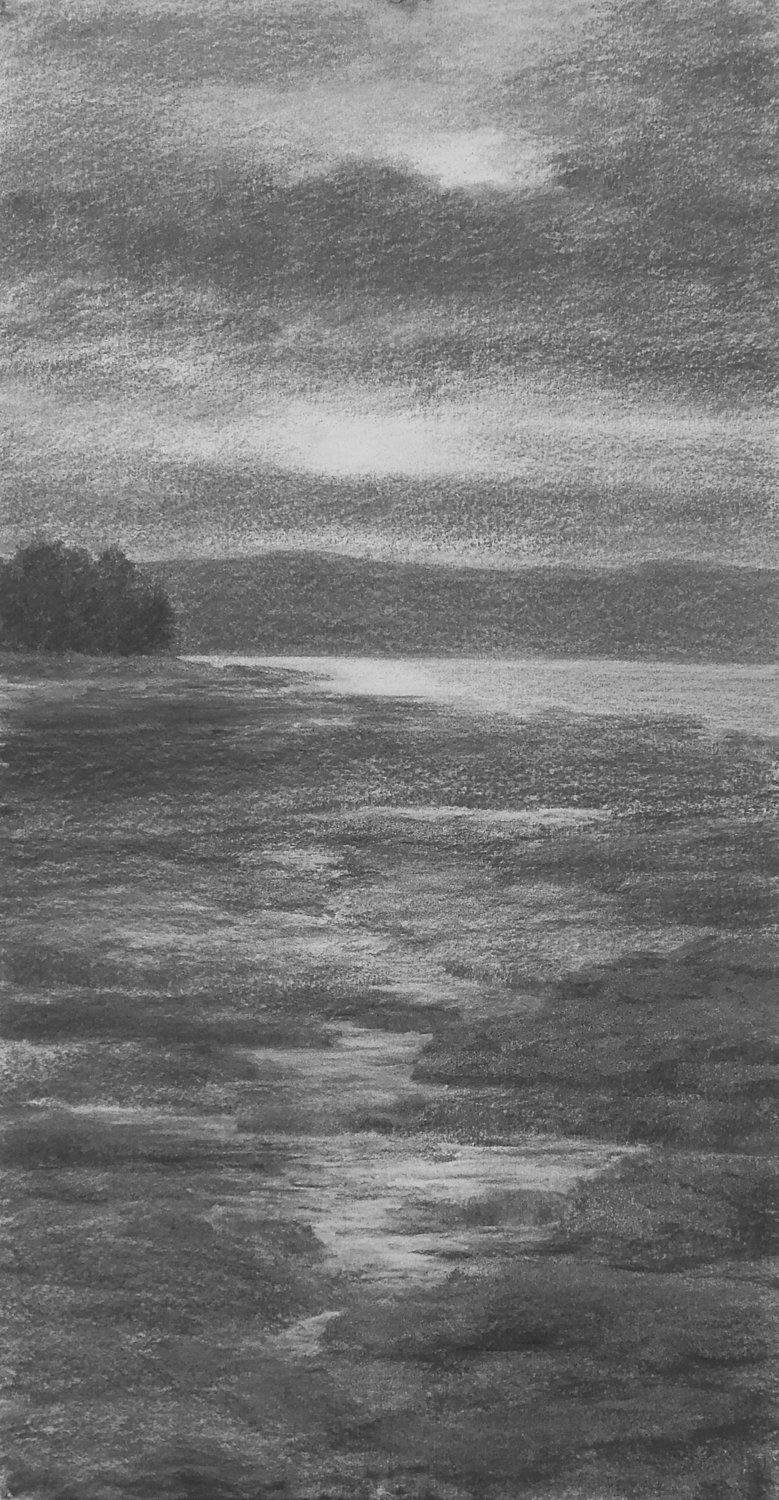 "Courtesy photo  - ""Light Coming Through"" by Alameda artist Katherine Meyer is just one of her charcoal works going on display at a museum in Eureka next month."