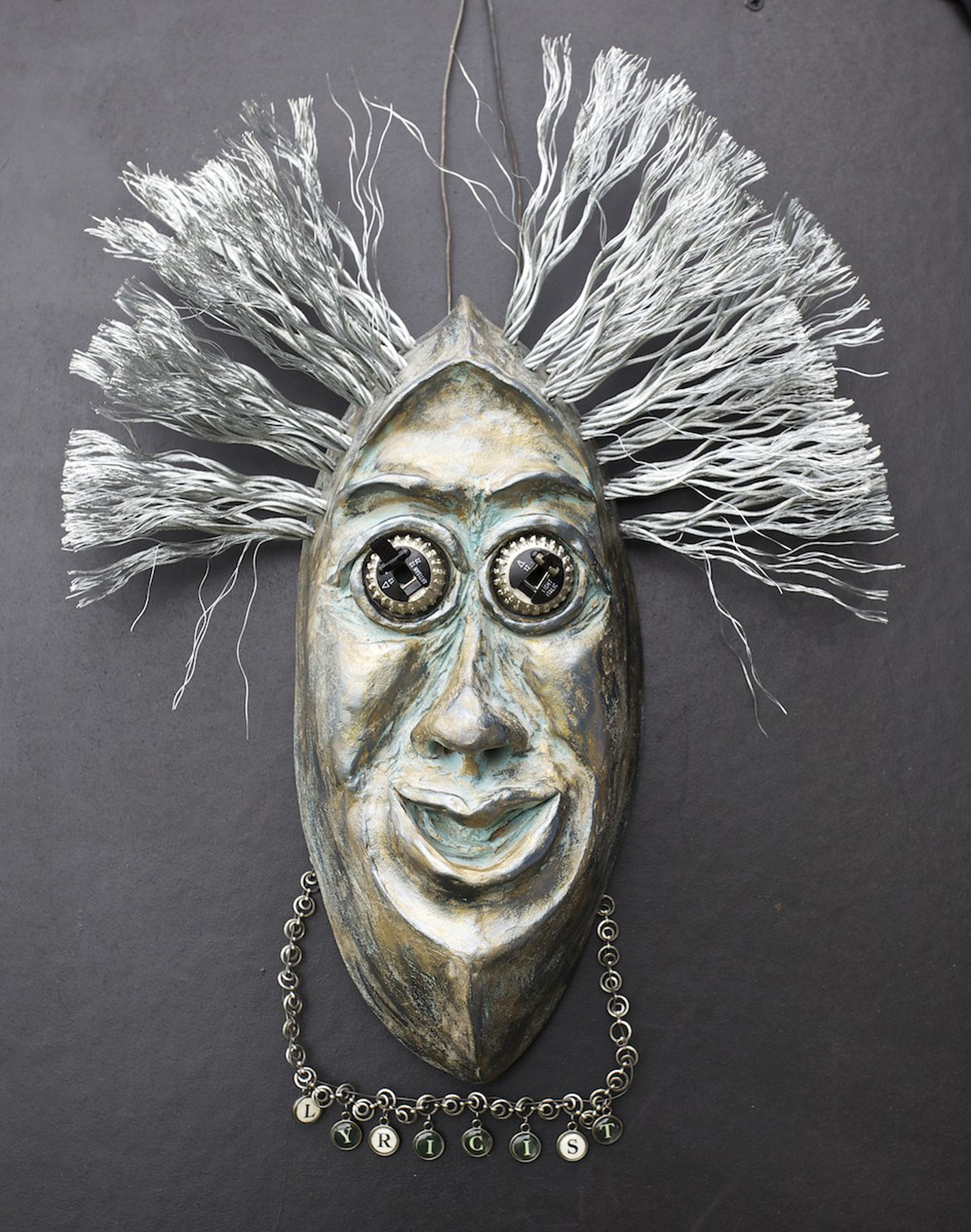 """Courtesy photo Vicki Newcomer's """"Lyricist,"""" a mask in ceramics and mixed media will be on display during Open Studios the next two weekends."""