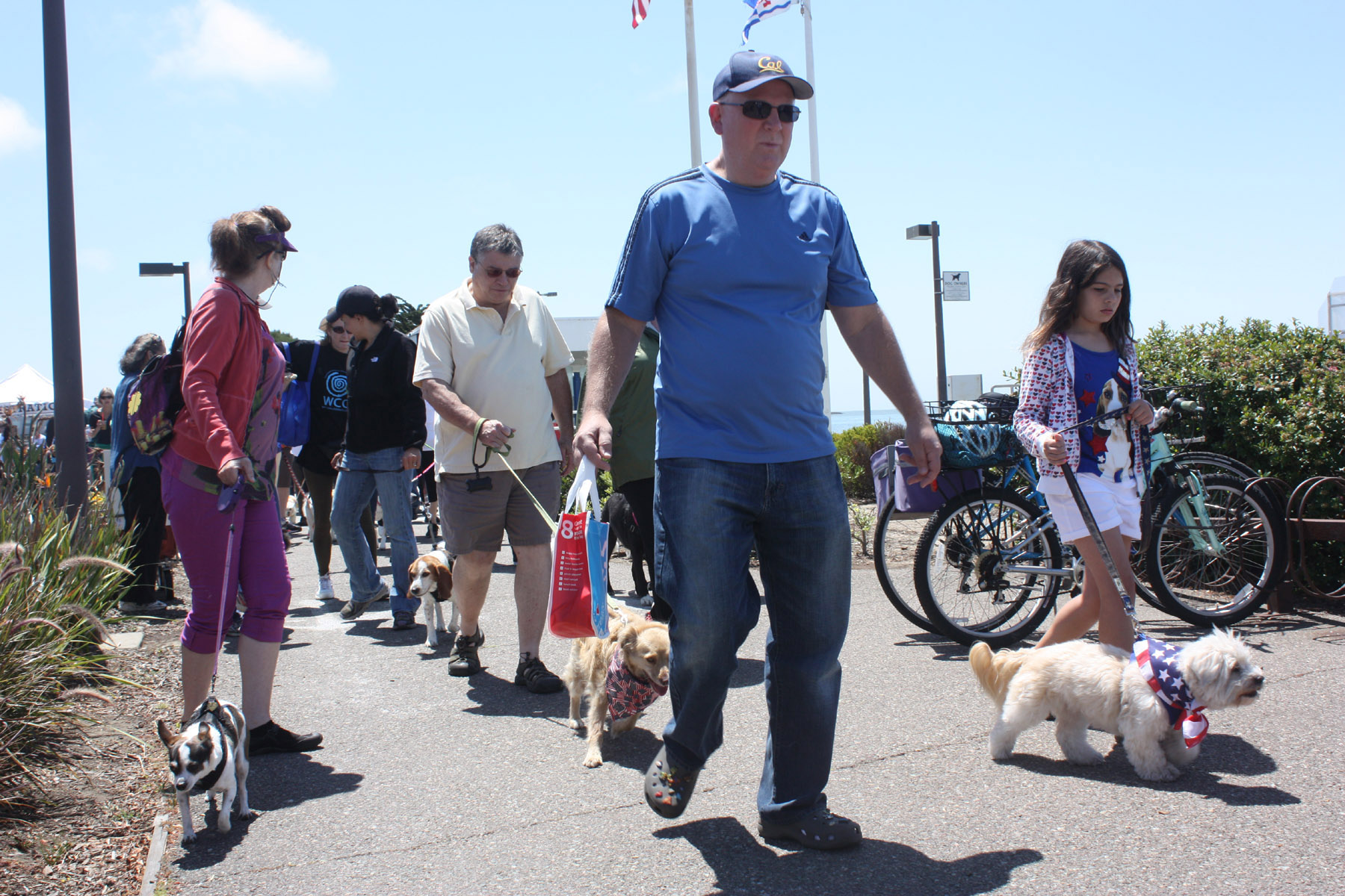 Participants in the 2013 Wiggle Waggle Walk. Photo by Dennis Evanosky