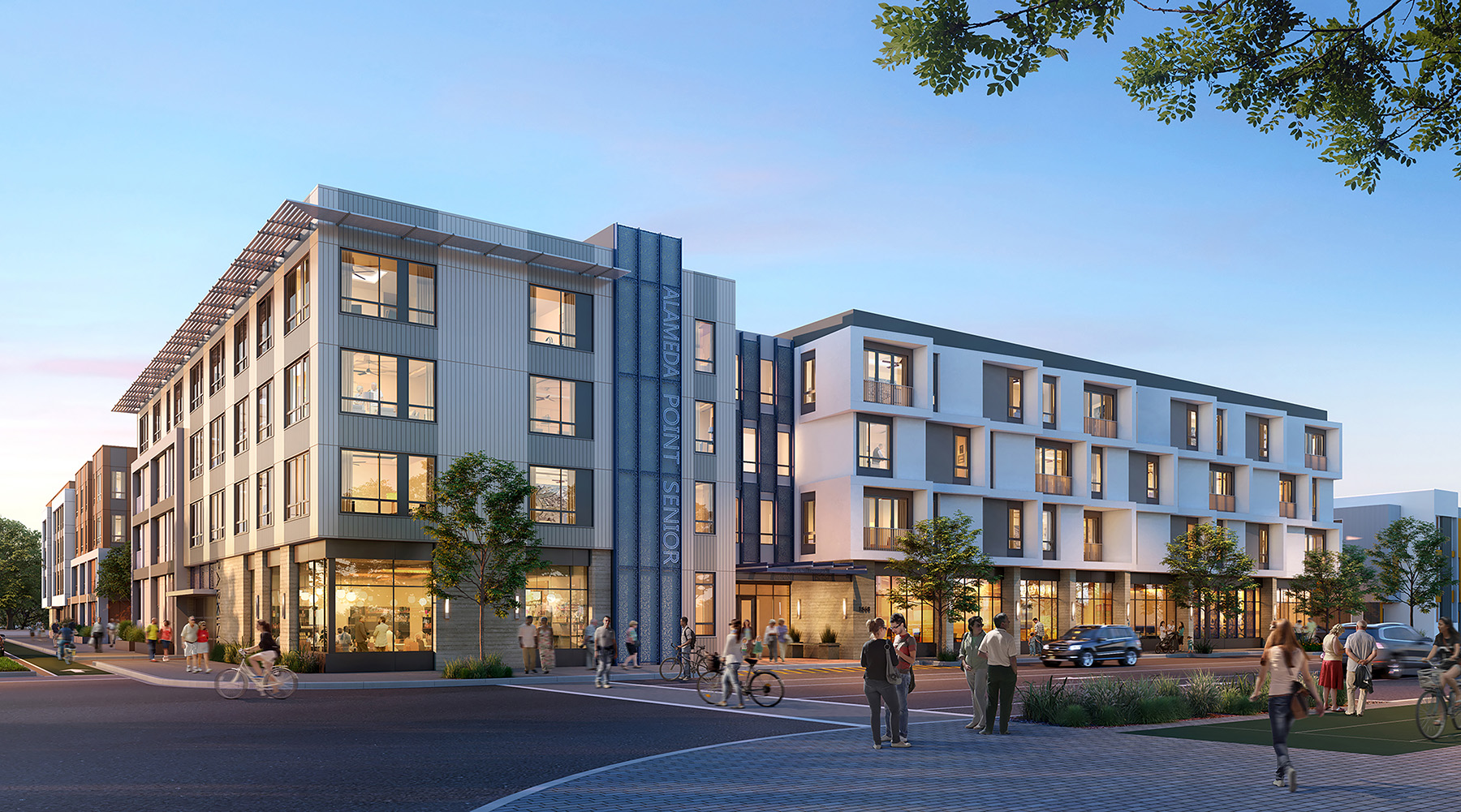Courtesy City of Alameda &nbsp&nbsp Architects expect Alameda Point Senior Apartments to look like this once construction has been completed.