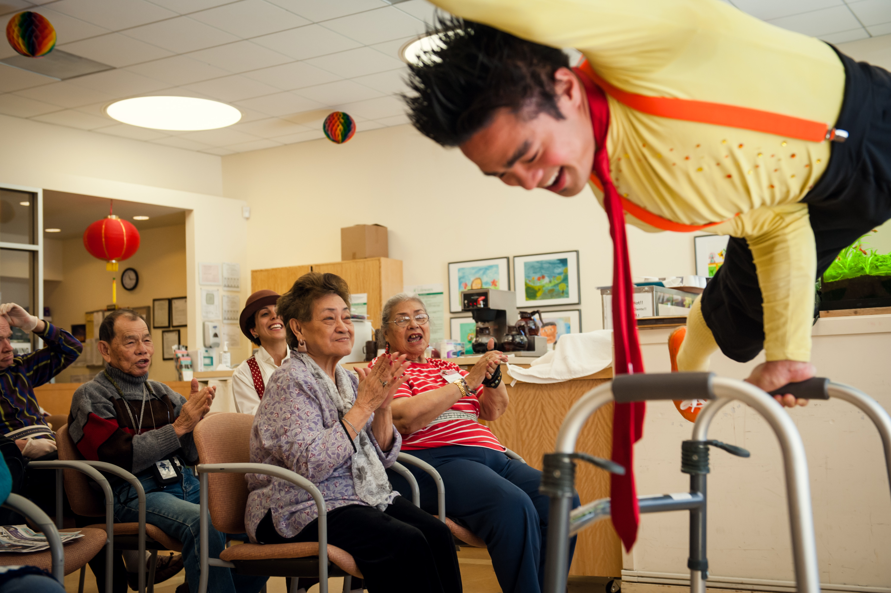 Courtesy photo  Programs director Calvin Kai Ku is among the performers who contribute to the Medical Clown Project, which was founded by Alameda residents.