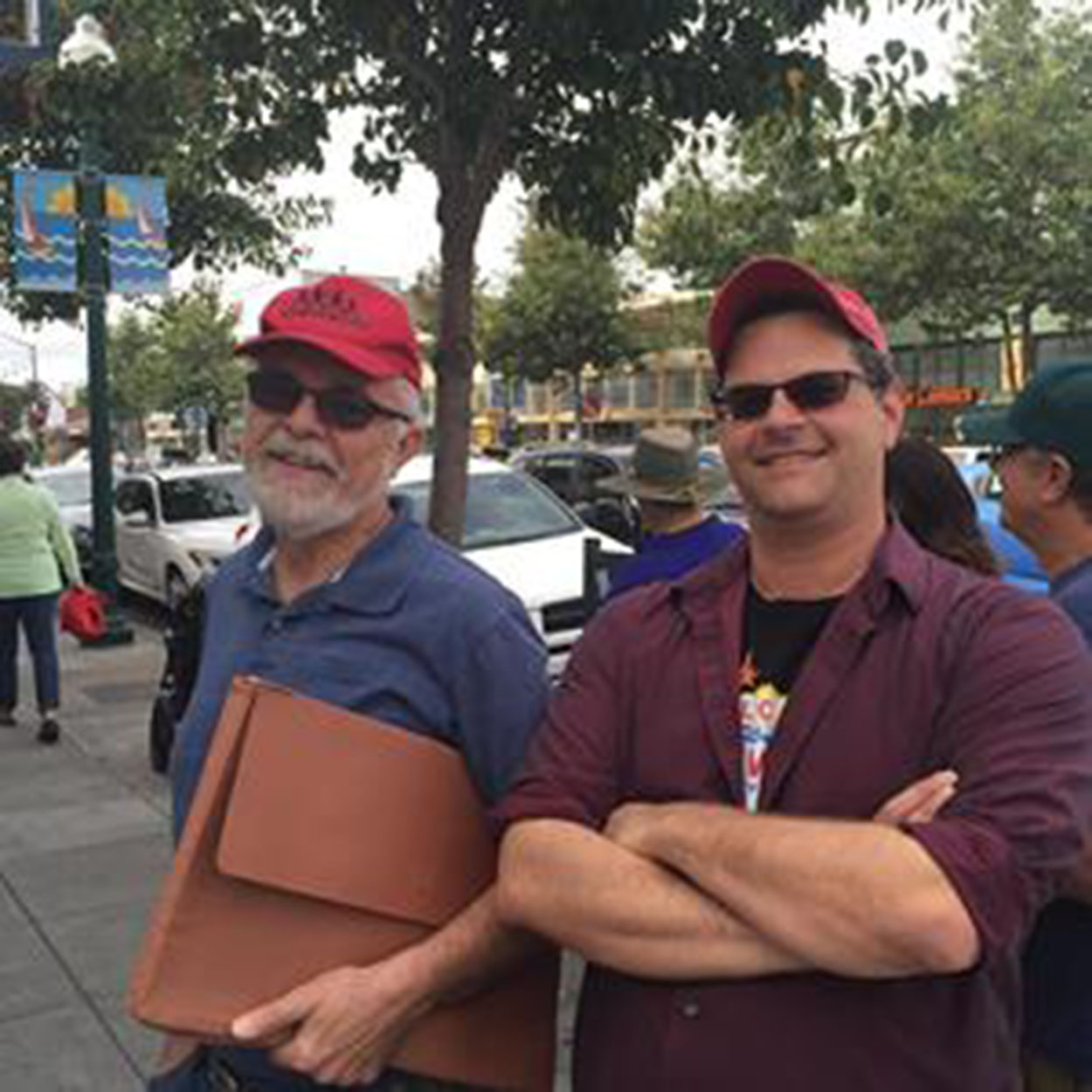 Jennifer Roloff   Dennis Evanosky and Eric Kos after their recent Webster Street walk with the Alameda Walks program. From the two of us to all of you, thanks for reading!