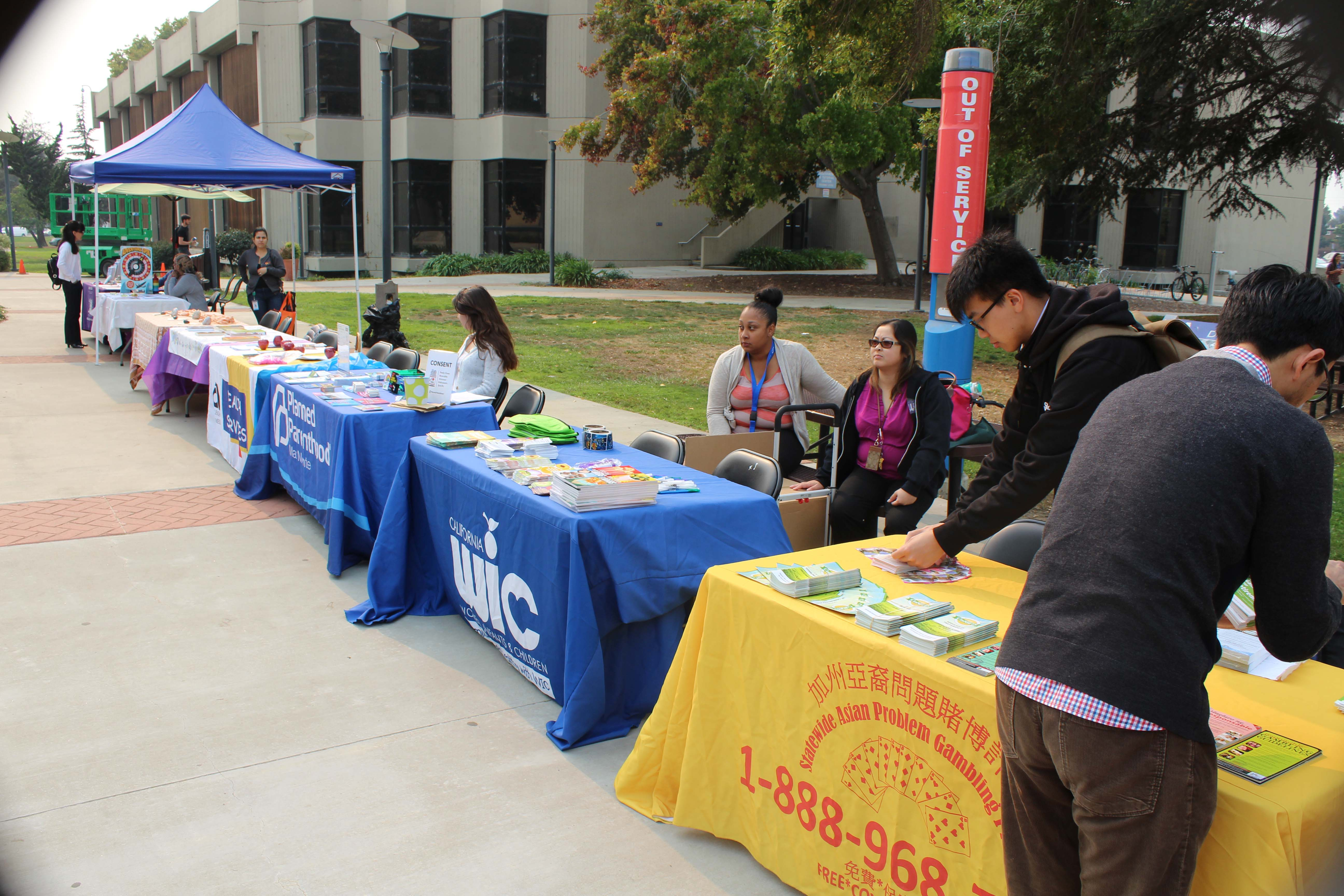 Mike Lano &nbsp&nbsp Local residents could take advantage of several informational booths at the College of Alameda Health Fair last Thursday.