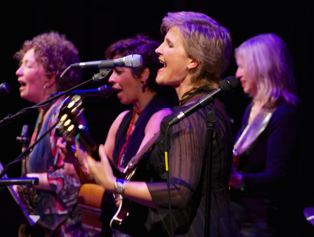 Courtesy photo  From left to right: Donna Viscuso, Jackeline Rago, Erika Luckett and Jan Martinelli of the band Wild Mango, performing this Saturday as part of Rhythmix Cultural Works' Wine Women & Song. Not pictured: Michaelle Goerlitz and Susu Pampanin.