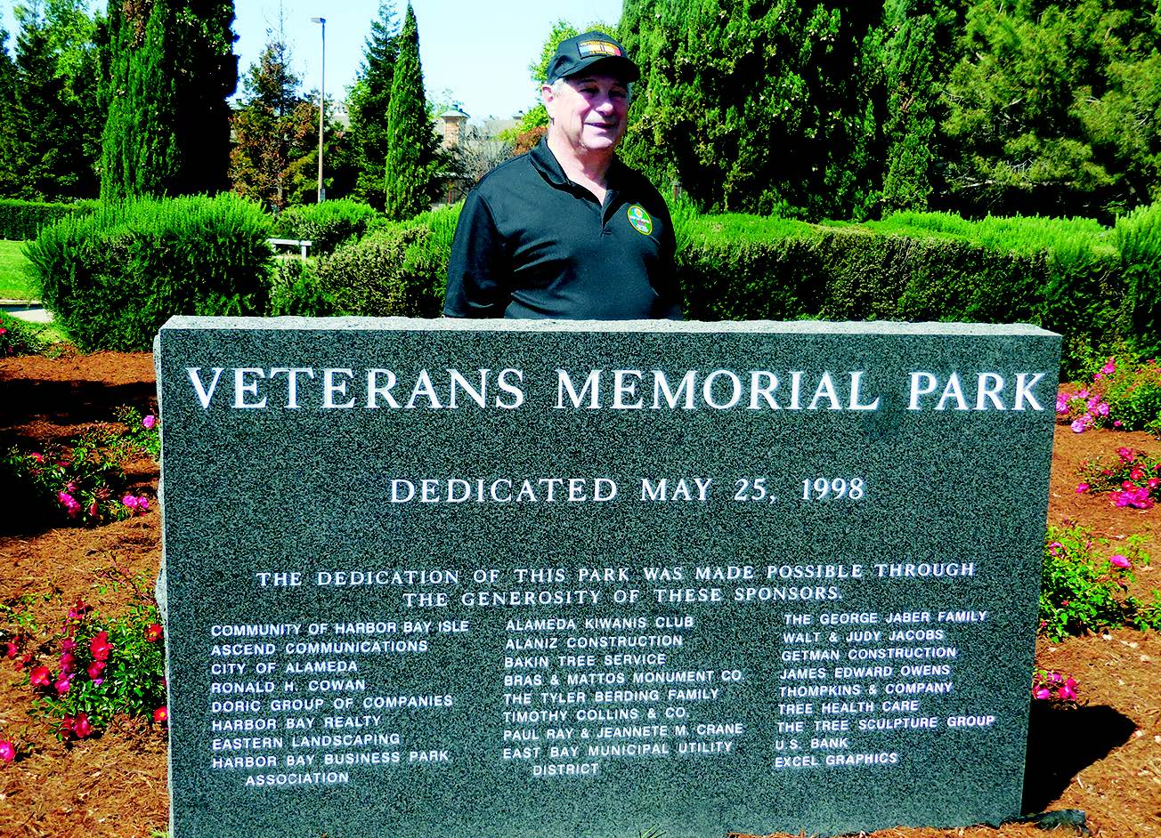 Arnold Dos Santos was among those who formally dedicated Alameda's Veterans Memorial Park back in 1998.