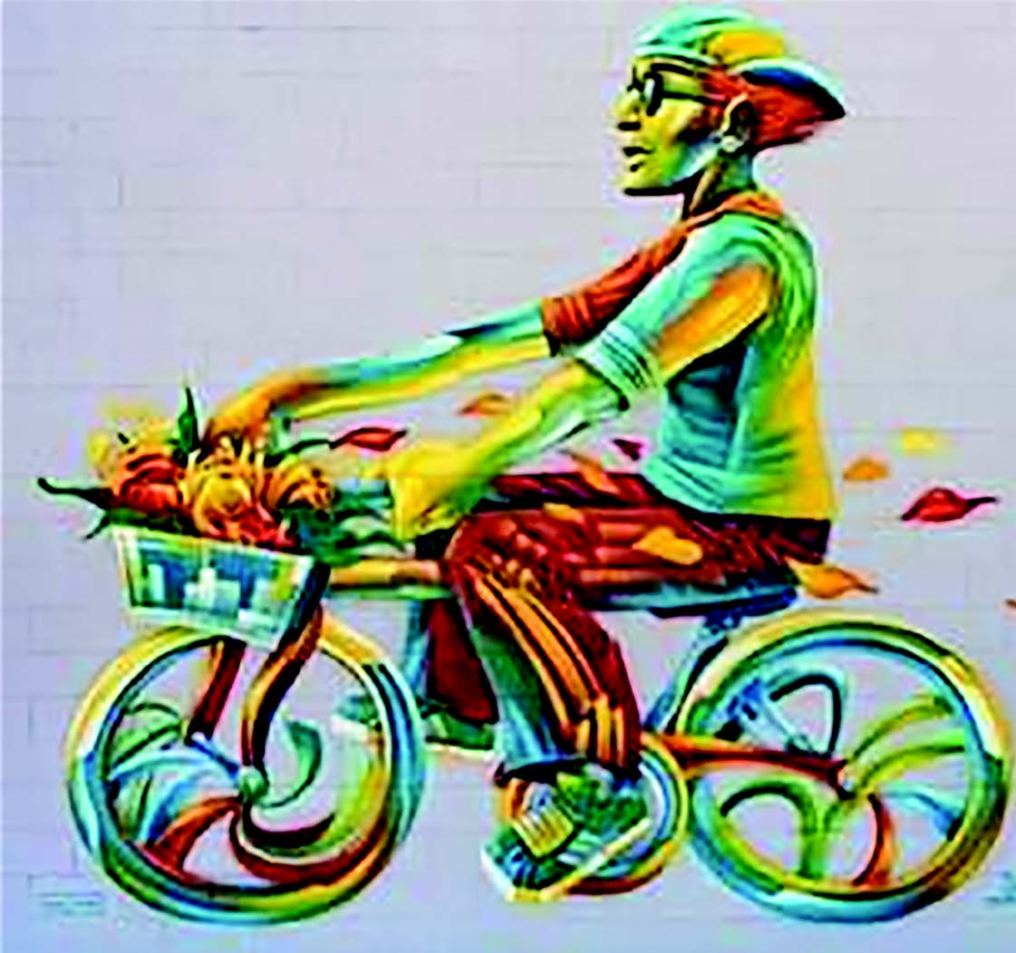 The Island Cruisin' mural by Hyde on Webster Street at Atlantic Avenue is one of the projects completed in conjunction with the Alameda Public Art program.
