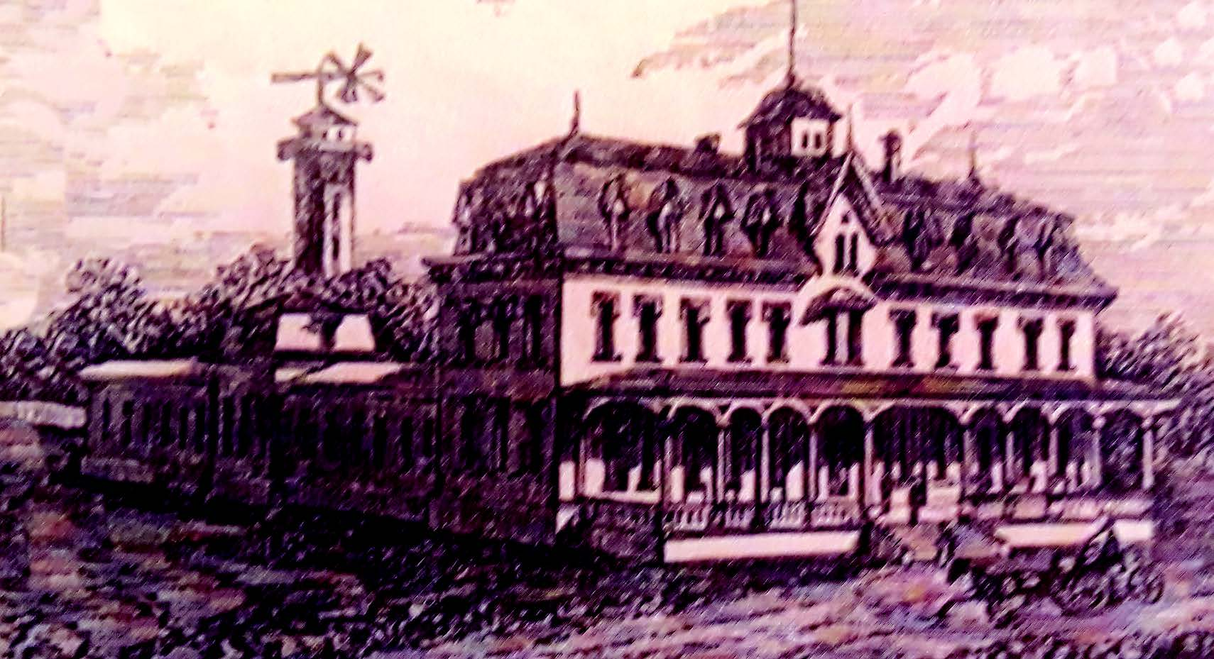 Courtesy Chuck Millar When Alfred A. Cohen built the Alameda Park Hotel, he had no idea that the enterprise would fail, became an insane asylum and then burn to the ground in 1879.