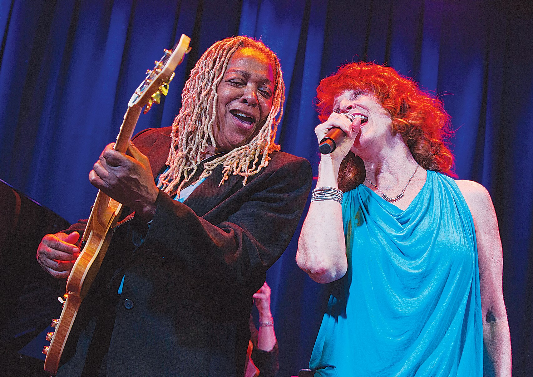 "Courtesy photo &nbsp&nbsp Guitarist Pat Wilder, left, and vocalist Pamela Rose will perform in Rose's ""Blues is a Woman"" show this Saturday, March 23."