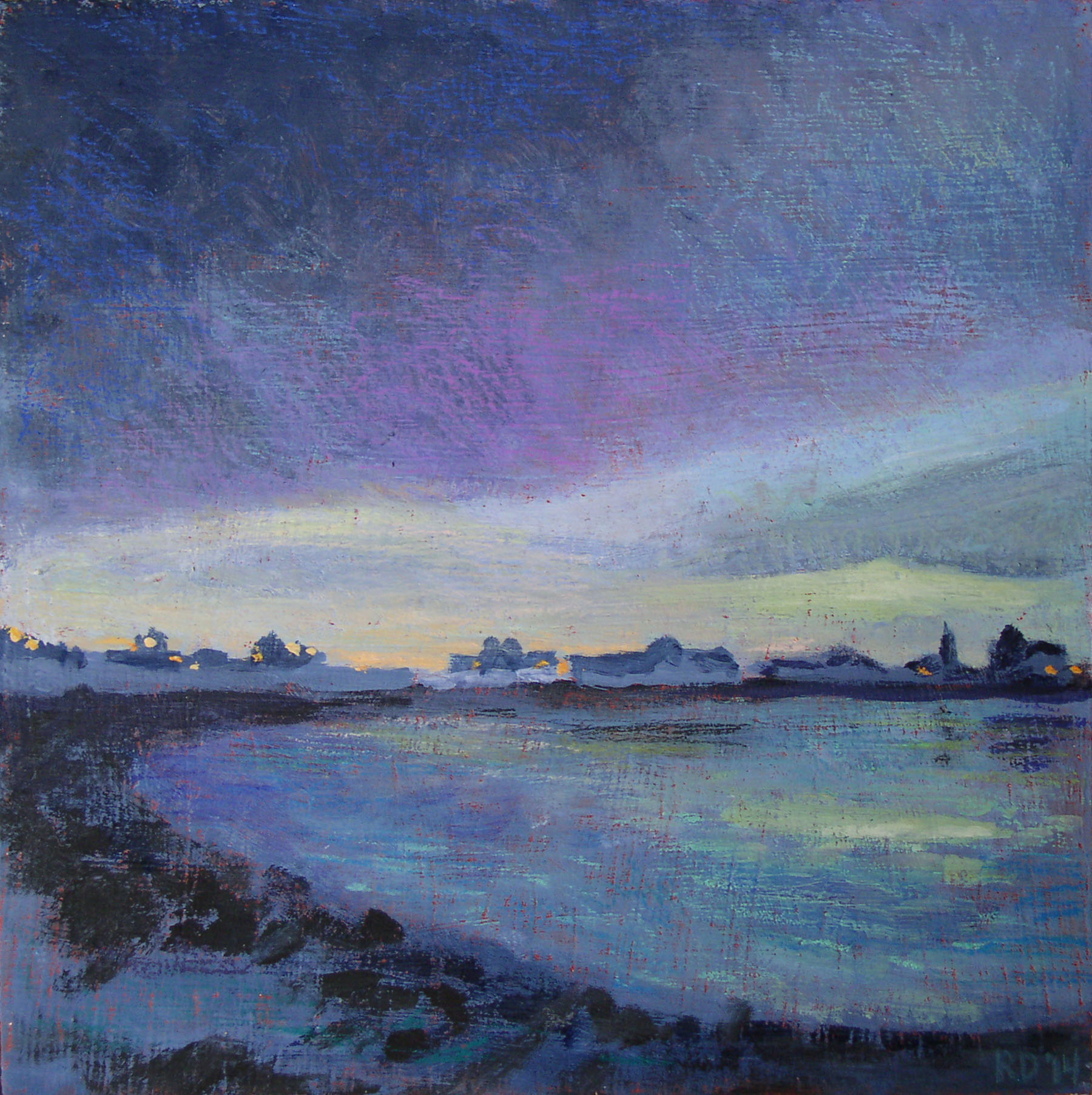 """Courtesy photo &nbsp&nbspRenee Doty's """"Twilight at Crab Cove"""" will be on display as part of a new gallery opening at Eyewise Optometry tomorrow night."""