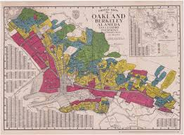 Author's collection This 1935 map shows areas which were supposedly good for investment. Homogenous (White-only) areas received the highest ratings.