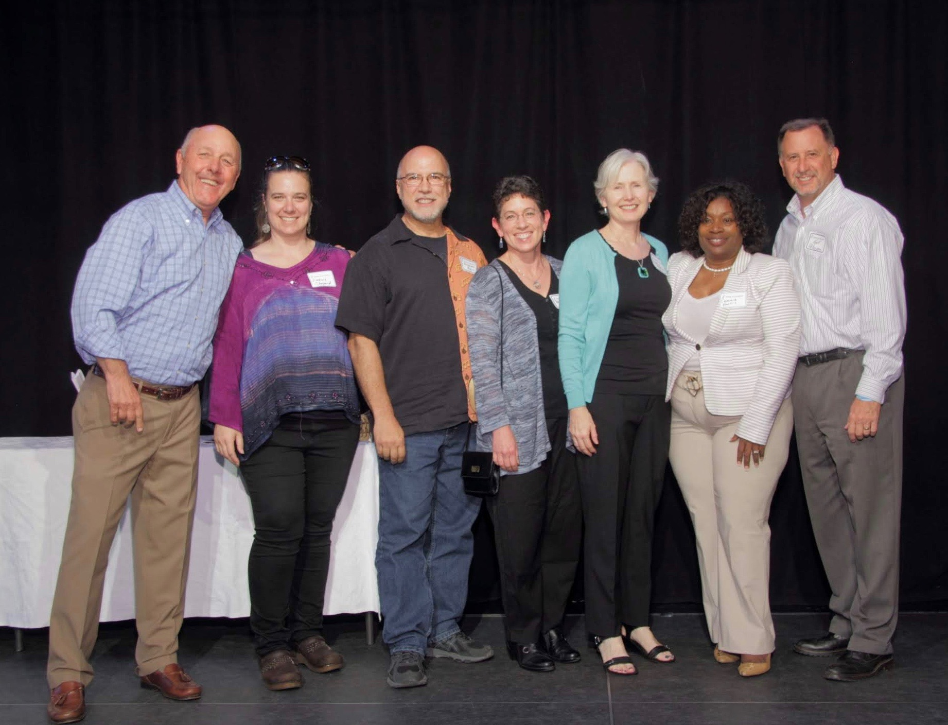 Photo courtesy AEF &nbsp&nbsp A group of Wood Middle School teachers, staff and volunteers received recognition at 2018's Salute to Education event.