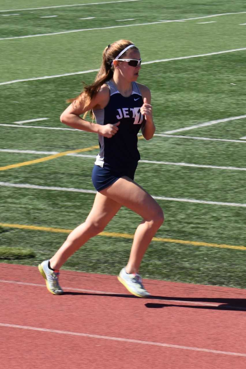 Kristina Nelson photo.   Shelby Nelson won the women's 1,600-meter race at the San Leandro Invitational in March by almost 17 seconds.