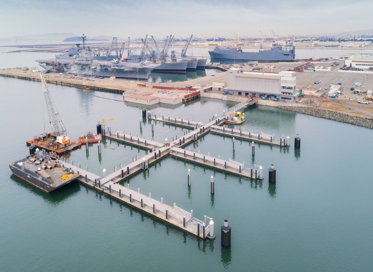 Courtesy Power Engineering &nbsp &nbsp The new Alameda Point facility named for the late Ron Cowan will serve as a non-passenger hub for WETA's central San Francisco Bay Ferry Fleet.
