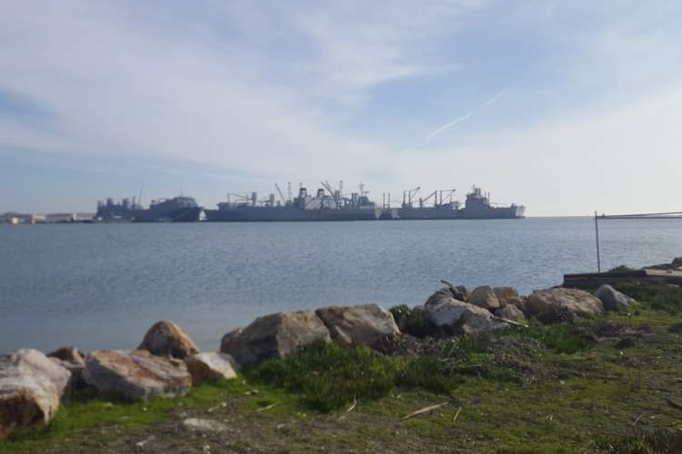 Eric J. Kos  The city is set to accept more land at Alameda Point from the Navy. The transfer scheduled for March includes the submerged land under Seaplane Lagoon and the docks that house the Maritime Administration's ready reserve fleet and the USS Hornet.
