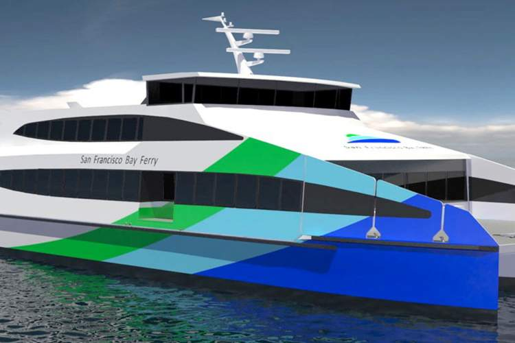 Water Emergency Transportation Authority  This artist rendering depicts one of the 400-passenger ferries that the Water Emergency Transportation Authority has ordered. The manufacturer will deliver two of the vessels in early 2017. Two more are scheduled for delivery in 2018, one of which will be able to provide service to the new Seaplane Lagoon terminal. The new vessels will produce lower emissions than any currently operating ferry in the U.S. of similar size and capacity.