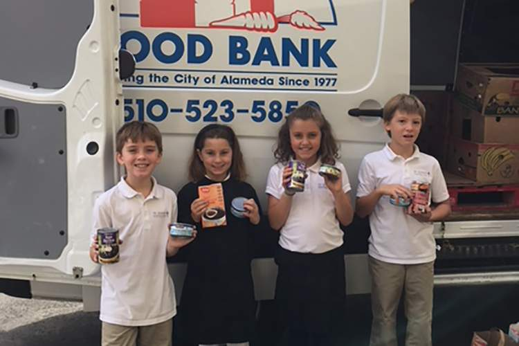 St. Joseph Elementary School &nbsp&nbsp Second-graders from St. Joseph Elementary School helped deliver more than 500 pounds of food to the Alameda Food Bank. They were some of the many Alameda students giving back to the community as the holiday season got underway.