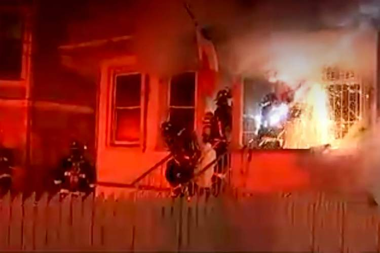 Courtesy KTVU &nbsp&nbsp A firefighter uses a saw to gain entry to a home, where an elderly man lived alone. Firefighters later discovered his body inside.