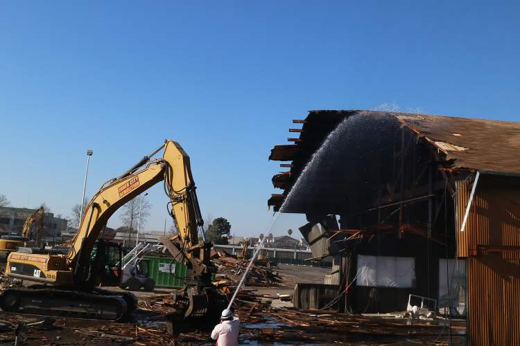 """Dennis Evanosky &nbsp&nbsp Alameda Marina, LLC, has begun Phase I of its project to transform the marina. Demolition of the first building to make way for """"The Launch,"""" — a 368-unit apartment project that will include 49 affordable units — got underway last week."""