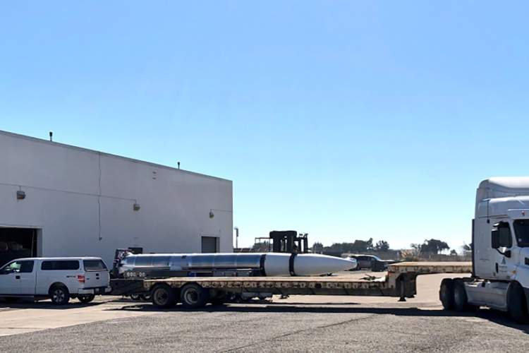 ABC 7 News  &nbsp&nbsp A big rig tows a rocket from Building 397 on the way to a test on the former Naval Air Station runways.