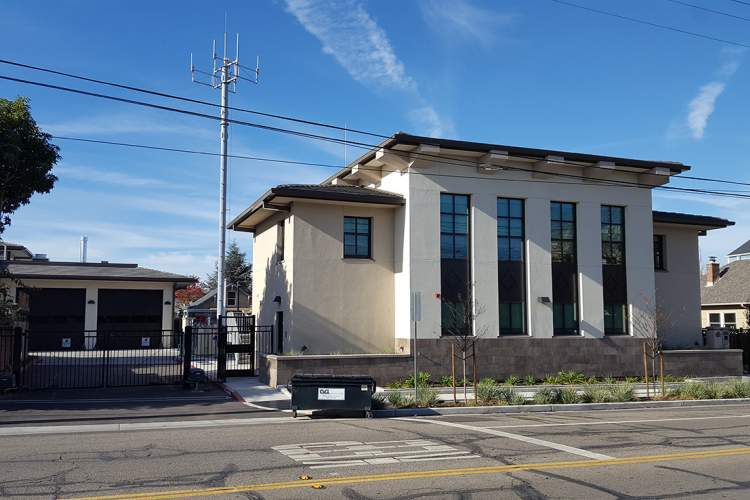 Eric J. Kos &nbsp&nbsp Alameda's state-of-the-art Emergency Operations Center at 1809 Grand St. and Fire Station No. 3 (background) will be formally dedicated with a ribbon cutting ceremony and public tour this Saturday from 1 to 3 p.m.