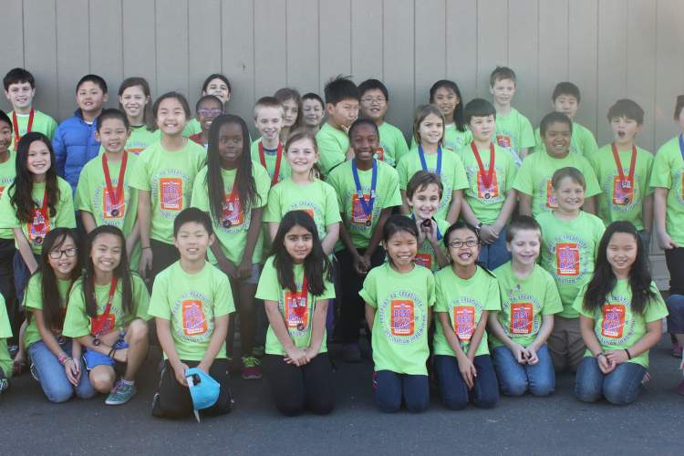 Students from Amelia Earhart Elementary School recently participated in the Destination Imagination regional tournament. One team will advance to the Global Challenge in Tennessee in May. Courtesy photo