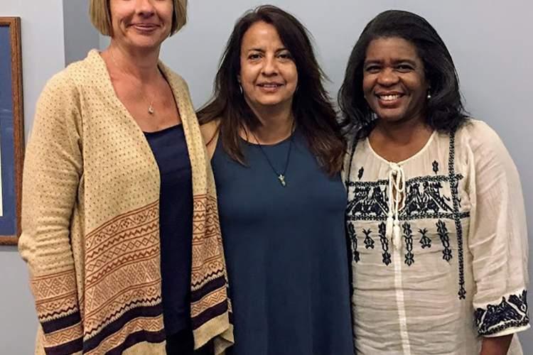 Alameda Education Foundation &nbsp&nbsp&nbsp The Alameda Education Foundation has three new board members (left to right) Kelly Scott, Ximena de la Rossi and Angie Hajjem-Watson.