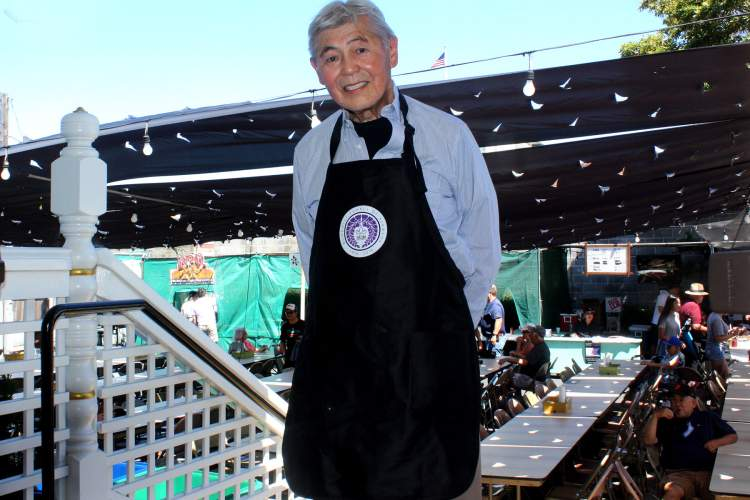 Dennis Evanosky  Mas Takano of the Buddhist Temple of Alameda welcomes everyone to the Obon Festival set for Saturday, July 23, 4 to 9 p.m. The festival features Bon Odori (folk dancing), live music and taiko, flowers, carnival games, cultural exhibits, drinks and delicious food. Takano is a key organizer of the festival.
