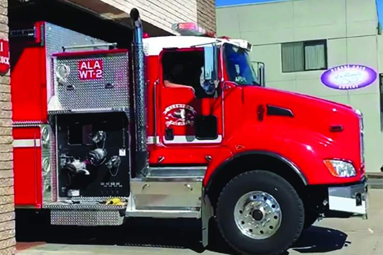 Courtesy AFD &nbsp&nbsp Alameda Fire Department's Water Tender No. 2 is helping fight the Ferguson Fire near Yosemite.