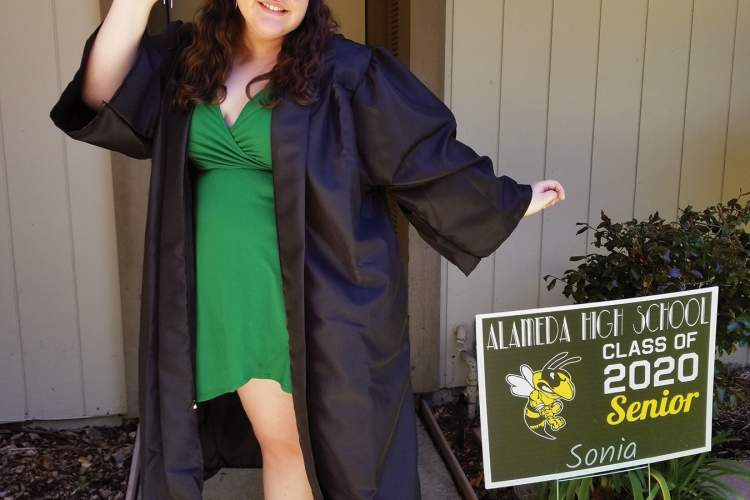 Courtesy photo &nbsp&nbsp Alameda High School graduate Sonia Gonzalez moves her tassel to the right to signify her achievement.