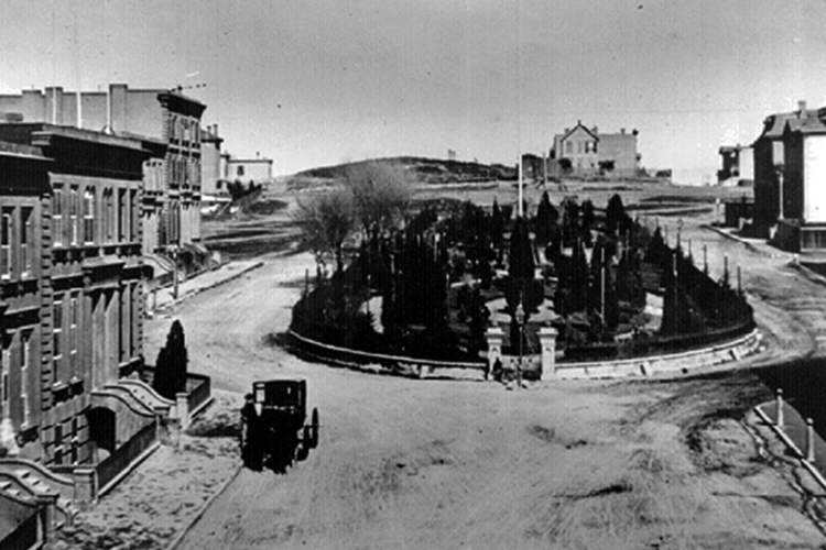 Library of Congress &nbsp&nbsp Alfred Cohen hired Robert Harris to design a park in Alameda that echoed the once-swanky South Park in San Francisco shown here in the 19th century.