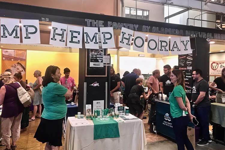 Fred Gardner &nbsp&nbsp An expo of CBD-infused product purveyors took part in a one-day expo Aug. 24 at the Alameda Natural Grocery. These products that use the non-psychoactive component of hemp have been proliferating nationwide.