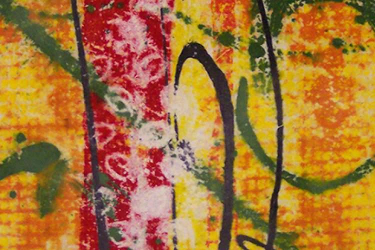 "Courtesy photo - Alameda printmaker Bonnie Randall Boller's clay monotype print, ""Evolving."""