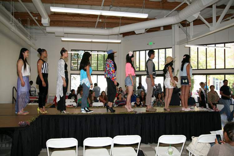 Student models strut down the runway at last year's first-ever Ethical Fashion Show. Courtesy photo