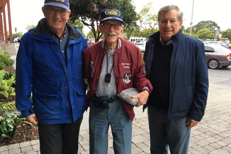 Courtesy photo.   Left to right: Art Lenhardt, Wallace Johnson and Rich LaRocca all met through Alameda Friendly Visitors. There's no reason to feel lonely here in the Island City.