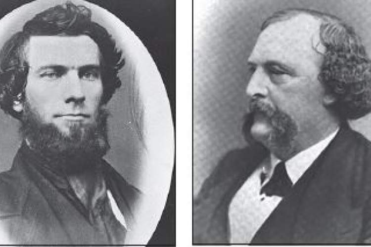 Alameda Museum; Oakland Wiki Caroline Maclean first married William Worthington Chipman, left; five years after William's death, she married John W. Dwinelle, right.