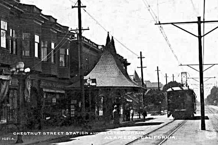 File photo &nbsp&nbsp A train approaches Chestnut Station. Next stop on the line would be Park Street South.