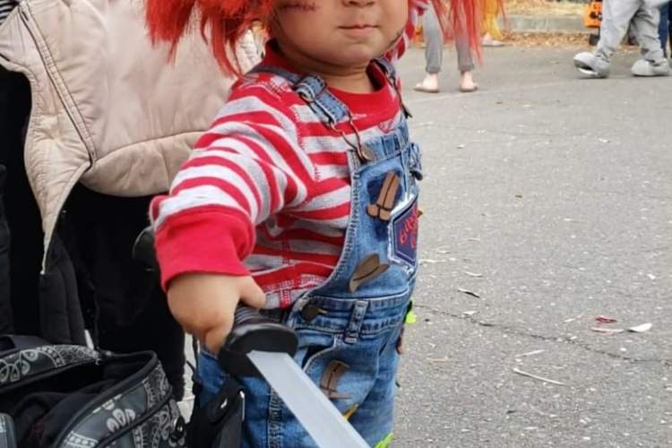 """Courtesy Linda Asbury &nbsp&nbsp The infamous doll """"Chucky"""" was seen haunting Webster Street this Halloween."""