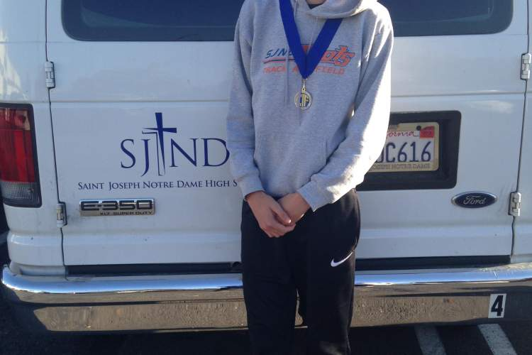 Courtesy photo  SJND junior Cooper Teare was first to complete the Div. V CIF cross country championship course.