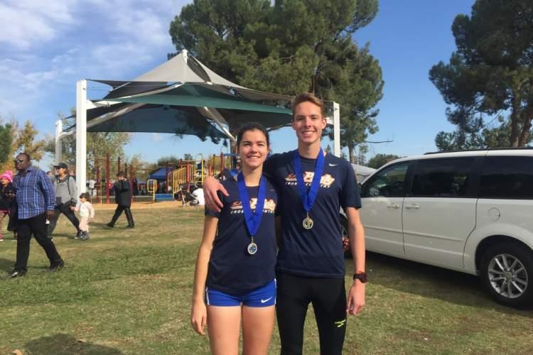 Courtesy photo  Kiera Marshall, left, and Cooper Teare