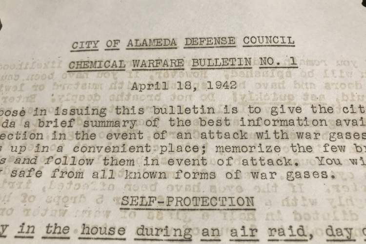 Leigh Anne Oliver Grey &nbsp&nbsp It would've been a different run on the stores back in 1942 when the City of Alameda released a guide on how to protect oneself from gas warfare.