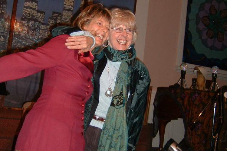 Courtesy photo &nbsp&nbsp Cathy Dana and Rev. Nancy Gordon celebrating the 10-year anniversary of Express Yourself.