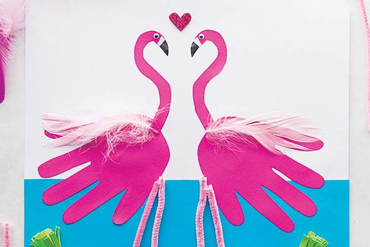 thebestideasforkids.com &nbsp&nbsp Pink Flamingo hand-compositions are a fun and easy project. You probably already the materials.