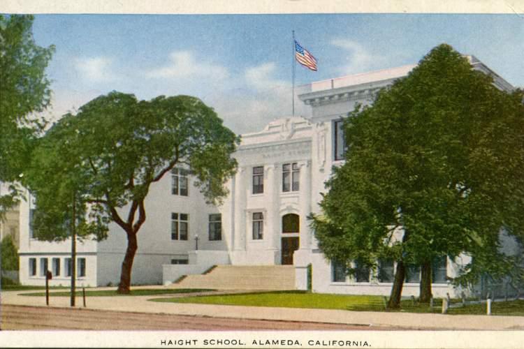 Courtesy alamedainfo.com &nbsp&nbsp This 1911 Haight School building replaced the original Haight School built in 1875.